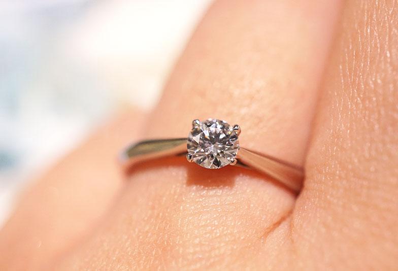 婚約指輪 シンプル 4本爪