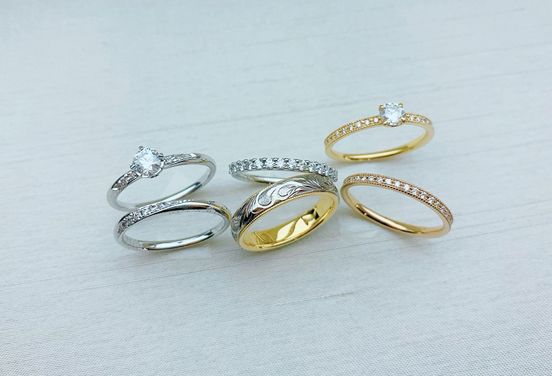 【静岡市】おしゃれ度UP!婚約指輪と結婚指輪の重ね着け3選