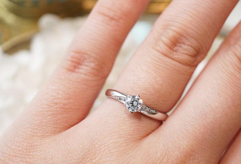 婚約指輪 カフェリング プラージュ 着用