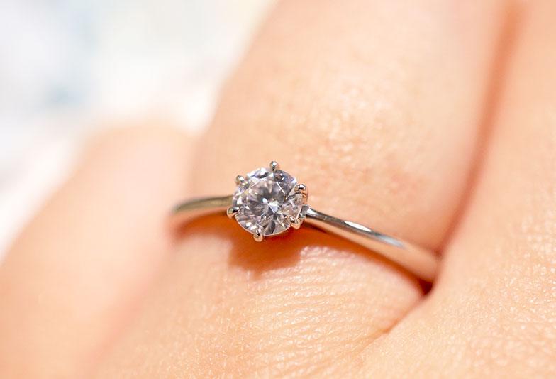 婚約指輪 シンプル 6本爪