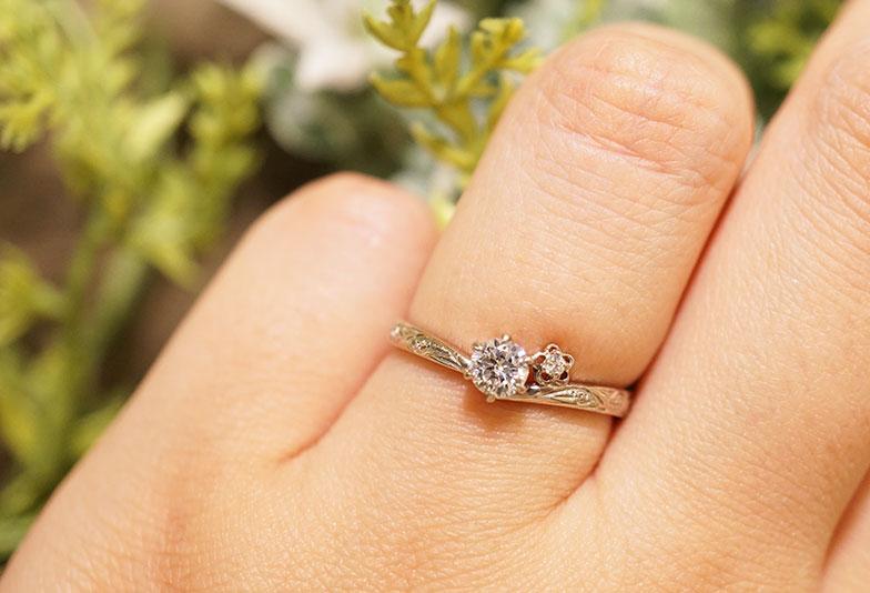 婚約指輪 HIA プライベートビーチ 着用