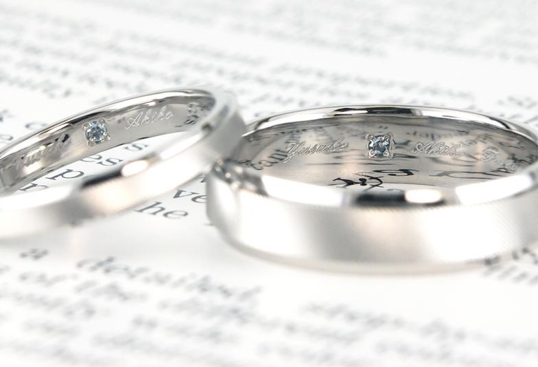 【福岡県久留米市】結婚指輪の内側に、記念に残る刻印をご紹介!