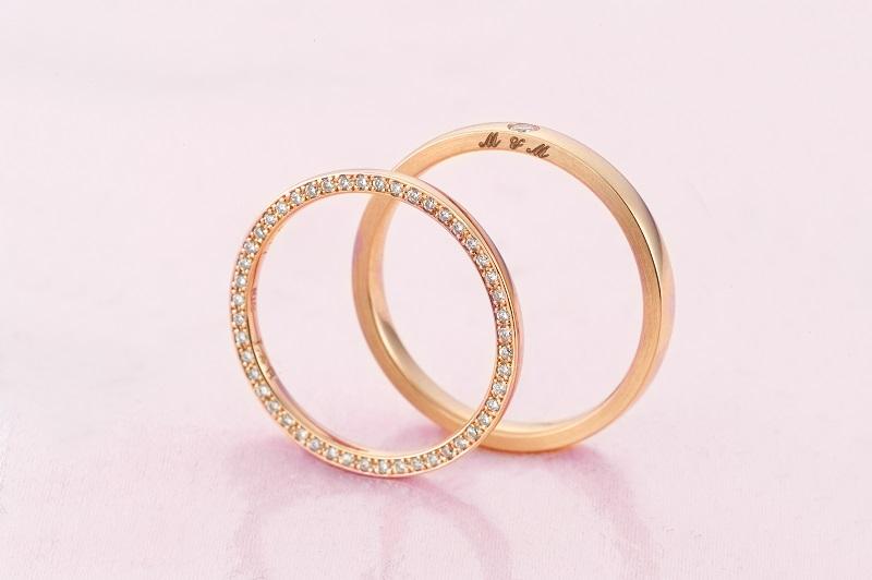 【山形県米沢市】女性に人気!ピンクゴールドの結婚指輪・人気デザイン紹介