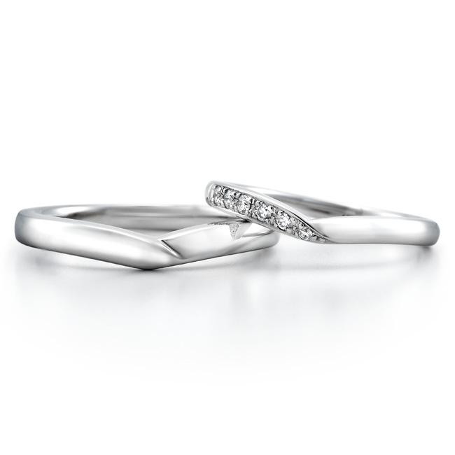 ロイヤル・アッシャー 結婚指輪 V字