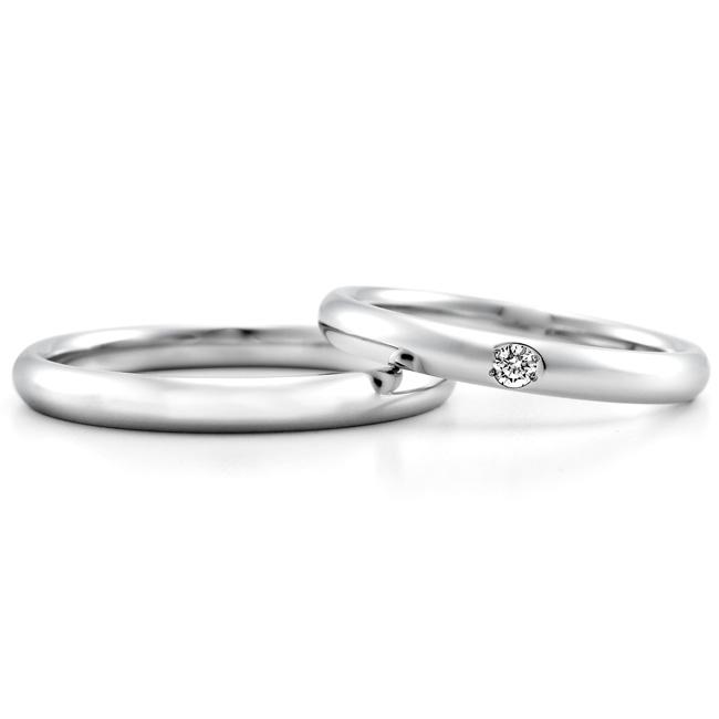 ロイヤル・アッシャーの結婚指輪 ストレート