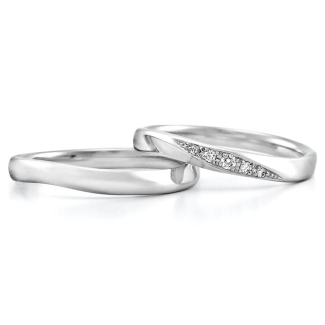 ロイヤル・アッシャーの結婚指輪 ウェーブ
