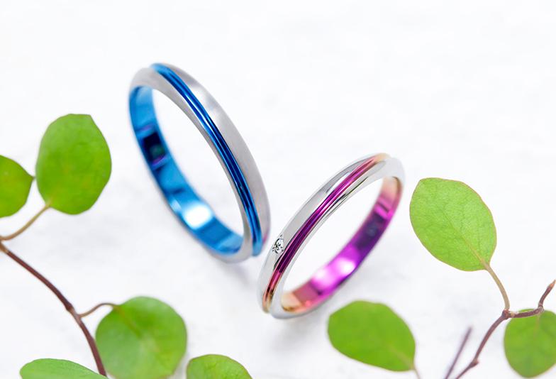 ソラ結婚指輪 エクリプト ブルーサファイア ピンクサファイア