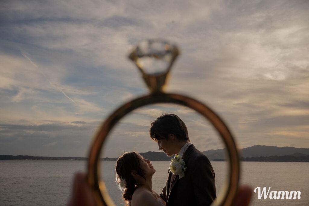 【静岡・浜松前撮り】奥浜名湖のサンセット写真が美しい!9月までならお得