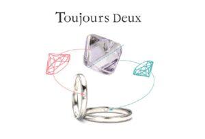 【宇都宮市】結婚指輪お探しの方必見!ツインズダイヤの Tjoujours Deux (トゥージュール ドゥ)