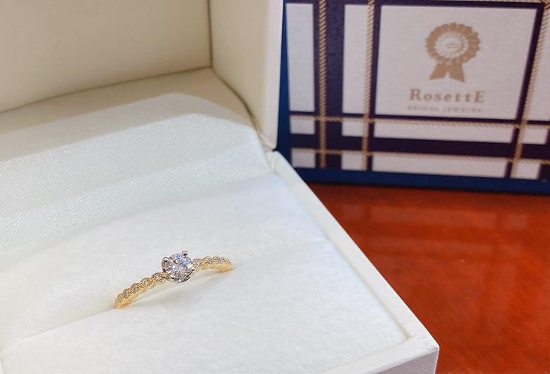 【京都市】お洒落花嫁に人気の婚約指輪!クラシカルなデザインが魅力的な「ロゼット」のご紹介
