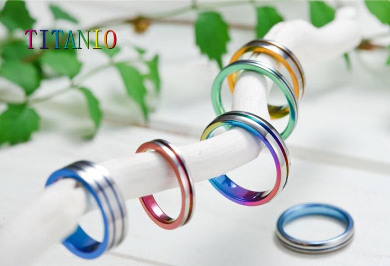 【大阪・梅田】金属アレルギー対応♡カラフルな色合いがとってもオシャレな「TITANIO」の結婚指輪って?