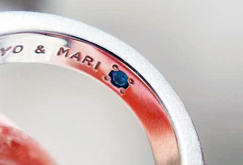 【神奈川県横浜市】結婚指輪の内側に秘められた想い。ふたりだけのシークレットストーン