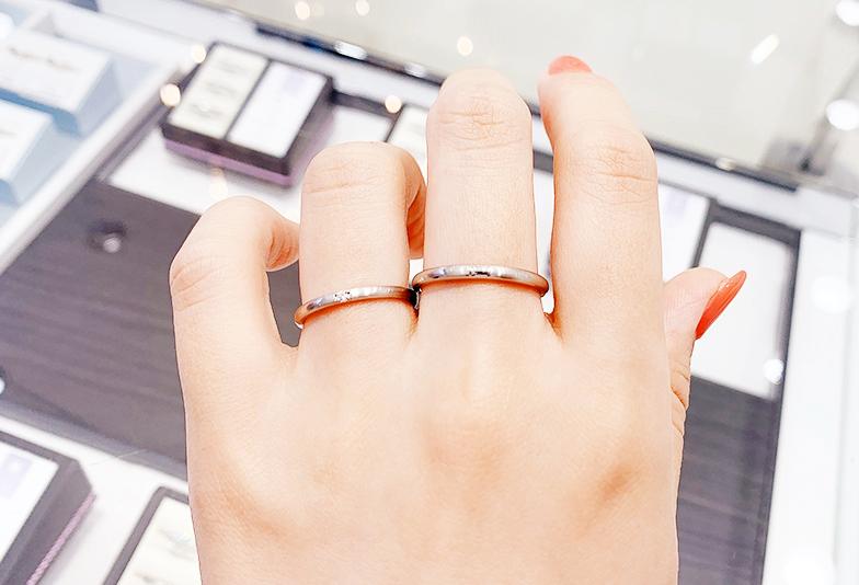 十六夜の結婚指輪細身デザイン