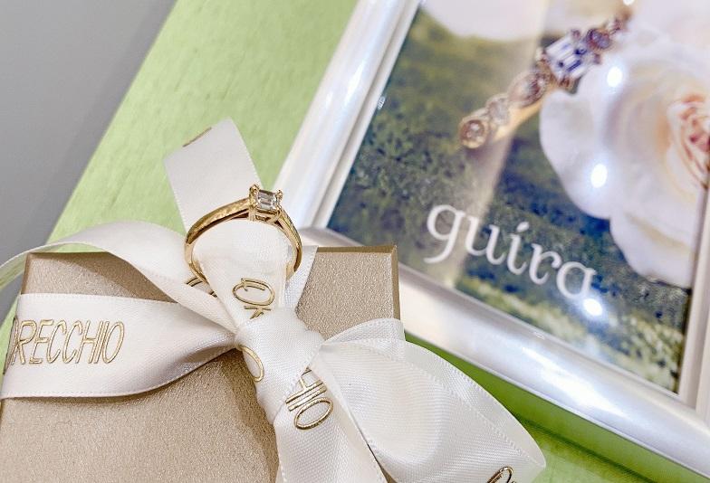 【京都市・烏丸】エメラルドカットダイヤモンドが人気!高品質の婚約指輪ブランド「ジューラオレッキオ」のご紹介!