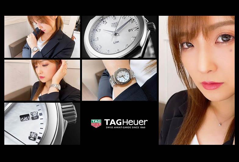 ペンを拾うお姉さん特集 「わたしの愛用している時計」TAG Heuerタグホイヤーリンク