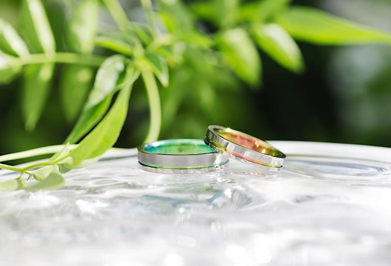 【郡山市】ふたりのカラー『SORA』で個性的な結婚指輪