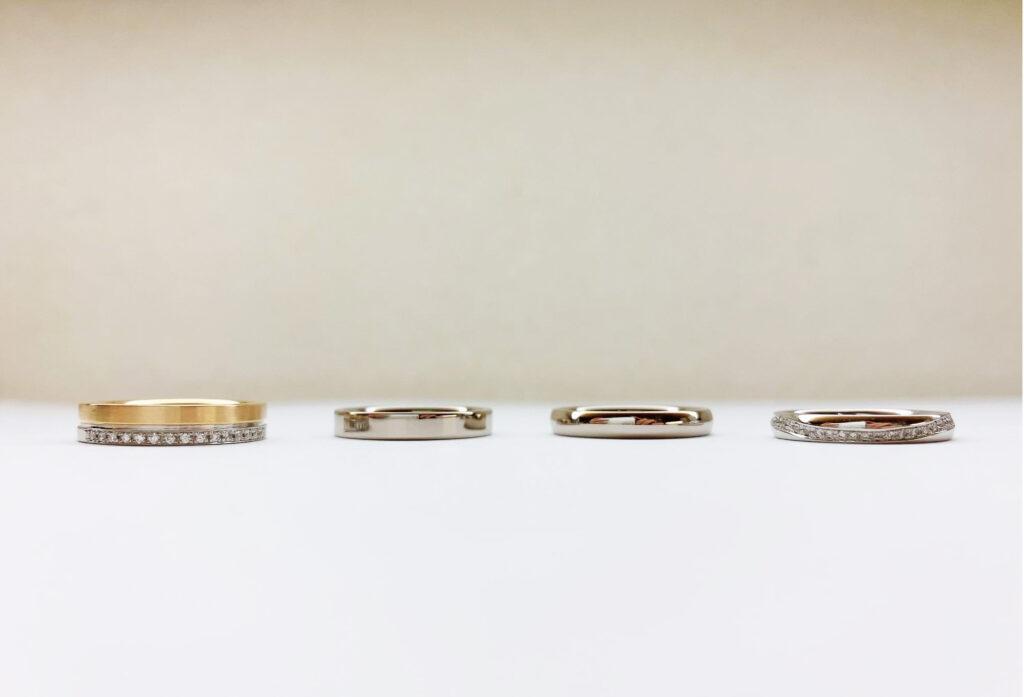 【静岡市】シンプルな結婚指輪を形状で比較!あなたは甲丸派?平打ち派?