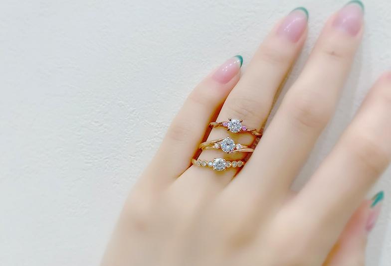 【静岡市】おしゃれ女子に人気!ゴールドの婚約指輪Best.3