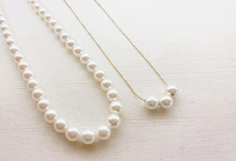 【静岡市】祖母の真珠ネックレスをリフォーム!普段使いできるパールジュエリーに。