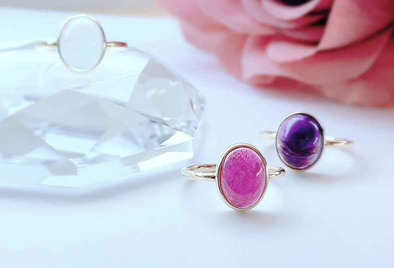 【静岡市】色石で作る誕生石の婚約指輪!ふたりだけの特別な色石リング