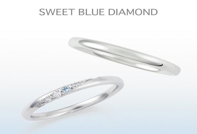 【大阪・梅田】ブルーダイヤモンドがリングに施させたブランド「sweetbulldiamond」