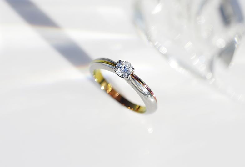 ジルコニウム 黄色系の婚約指輪