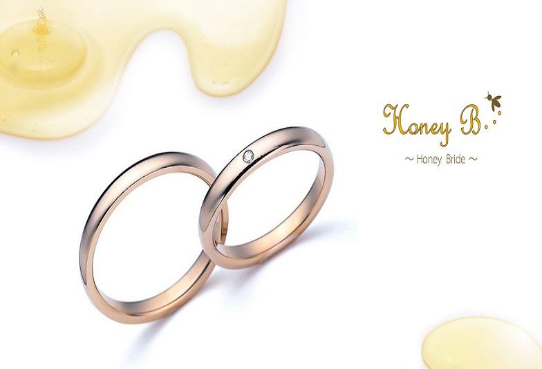 【大阪・梅田】はちみつをイメージしたハニーイエローゴールドが特徴的♡Honey Bridalの結婚指輪