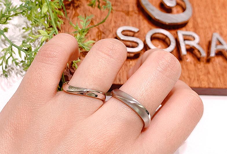 結婚指輪着用写真 ダイヤモンドなし プラチナ