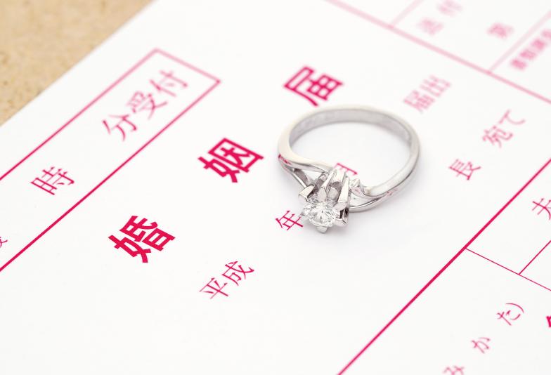 婚姻届と結婚指輪