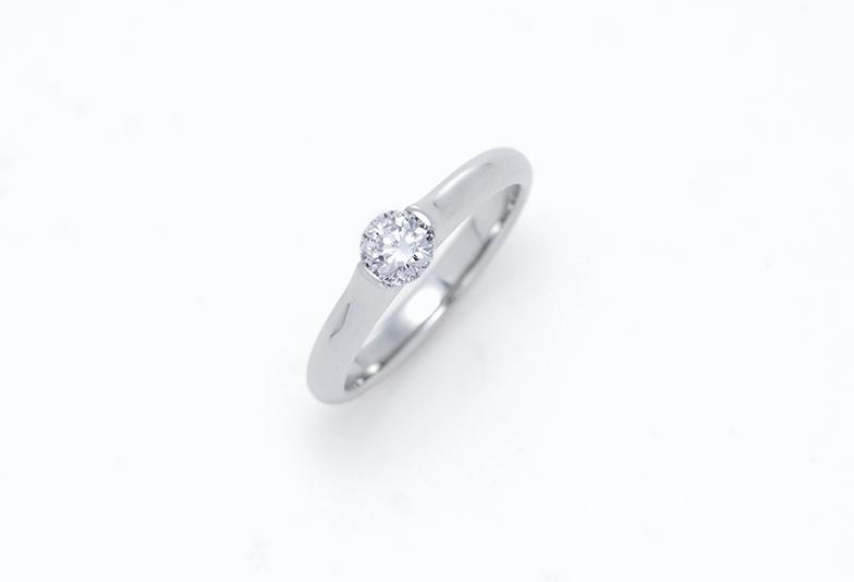 チタンの婚約指輪 シンプル