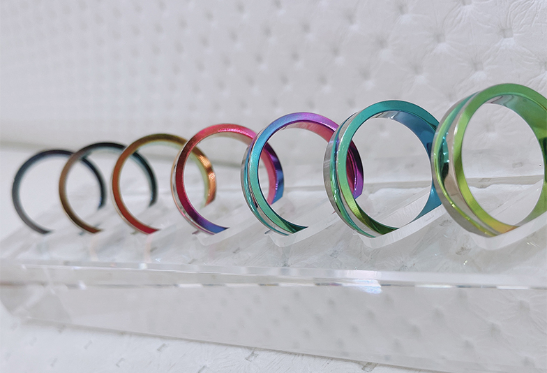 【静岡市】結婚指輪に関心のない彼が興味を持ってくれた色付きデザイン