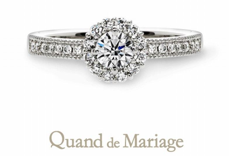 クワントマリアージュ 婚約指輪 オソレイユ