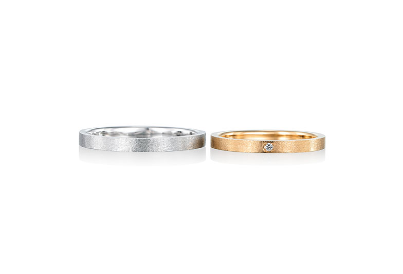 浜松市結婚指輪つや消しおしゃれ