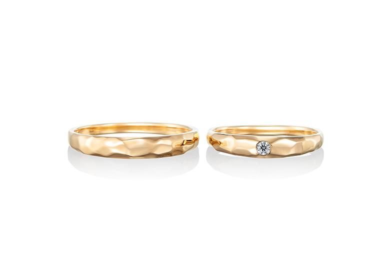 浜松市結婚指輪槌目ゴールド
