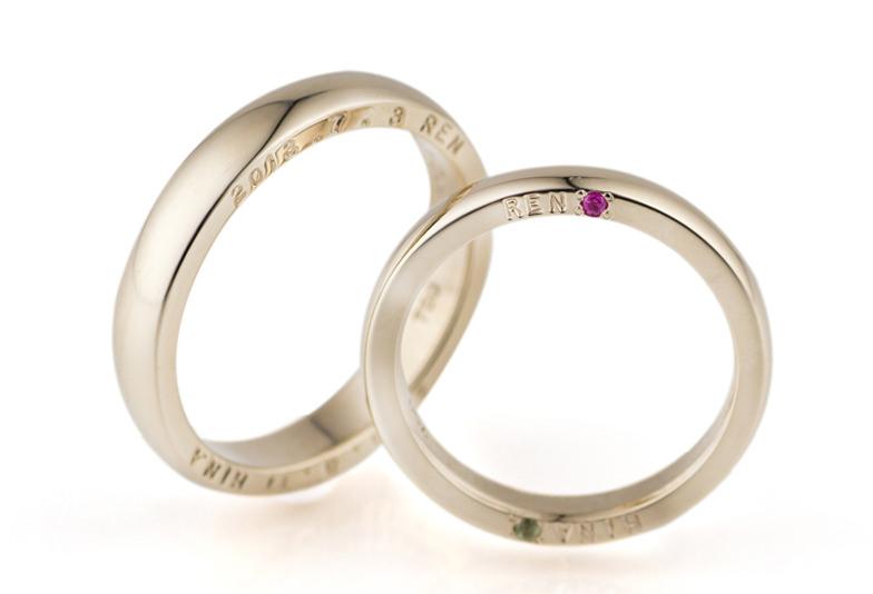 幅の広い鍛造の結婚指輪