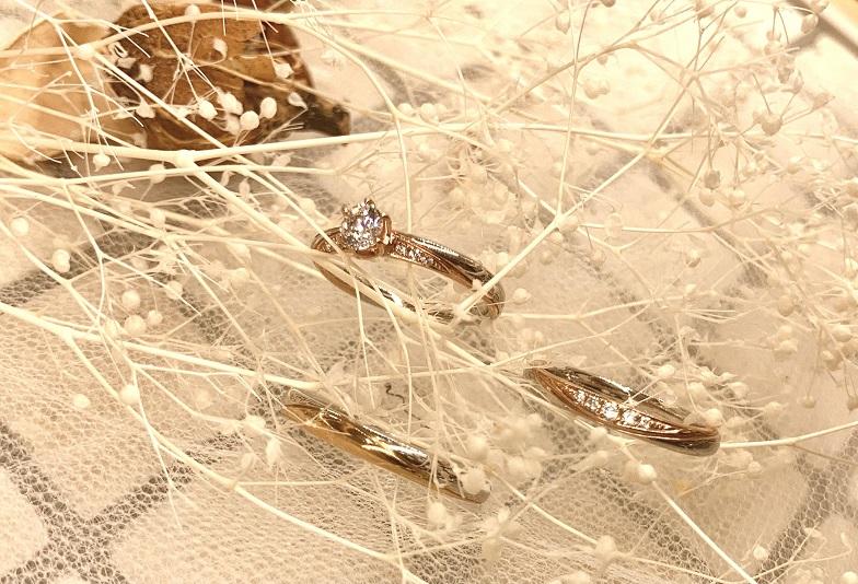 【京都市】「種類がたくさんあって、お気に入りの結婚指輪が見つかりました!」今流行りのコンビリングをgarden京都で着け比べしてみませんか?