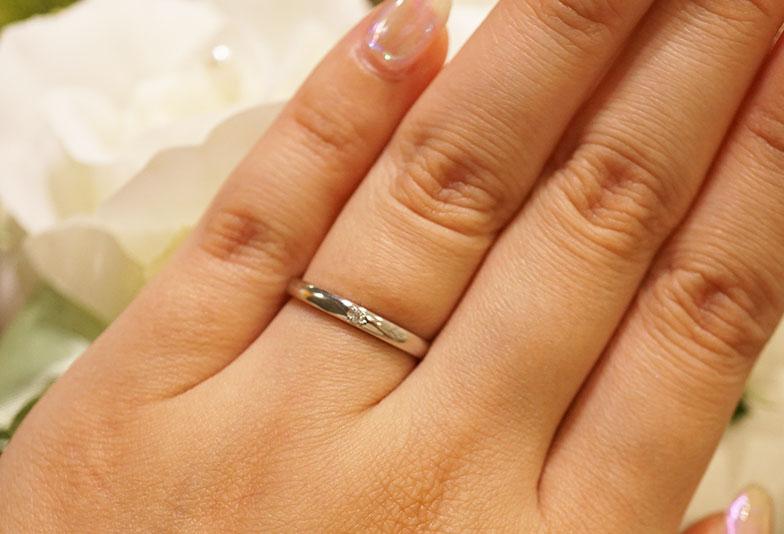 浜松 結婚指輪シンプル プラチナ