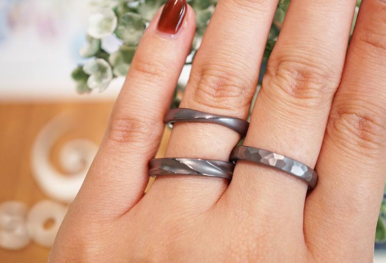 【浜松市】黒い結婚指輪が欲しい!メッキじゃない素材は何がある?
