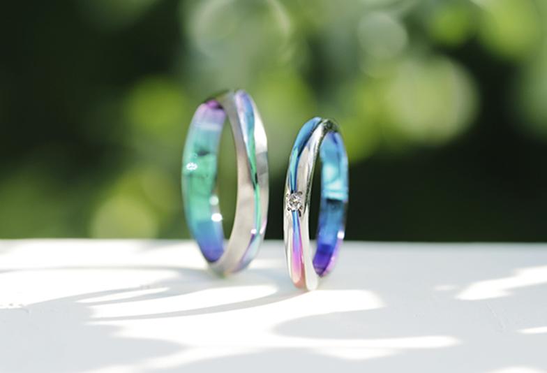 静岡市結婚指輪色付き