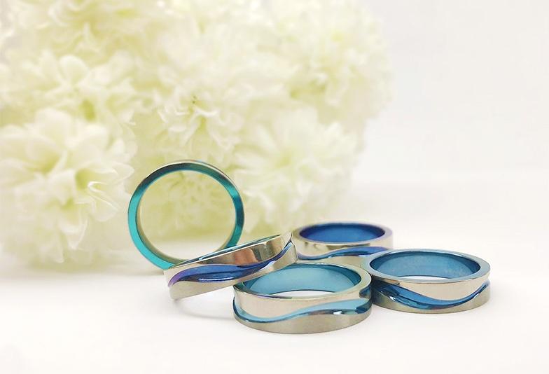 【静岡市】ブルーのバリエーション豊富!結婚指輪のカラーを選ぶならSORA