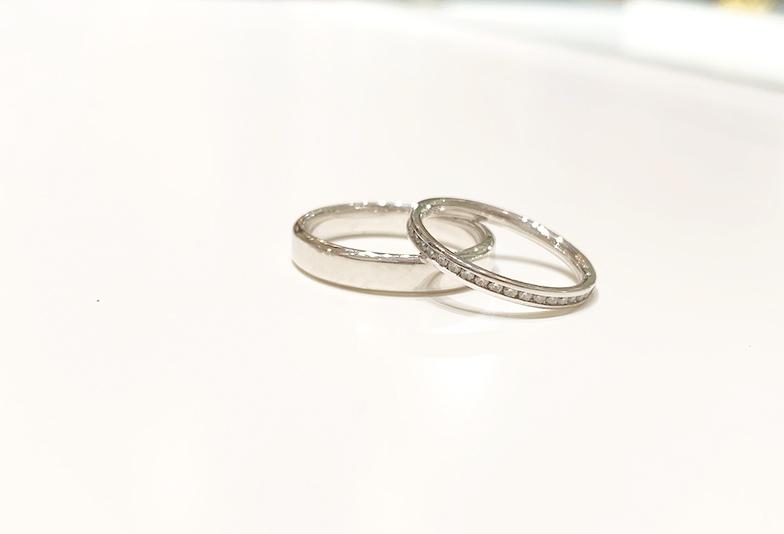 【静岡市】太い結婚指輪が良い男性のペアはどうする?好みが合わない人におすすめの方法