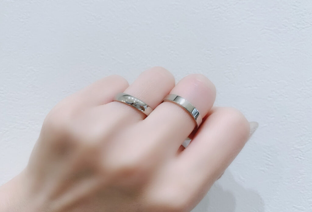 【静岡市】女性の結婚指輪「太め」ってどのくらいのボリューム?