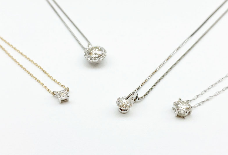 【静岡市】婚約指輪のジュエリーリフォーム。おすすめのネックレスデザイン集