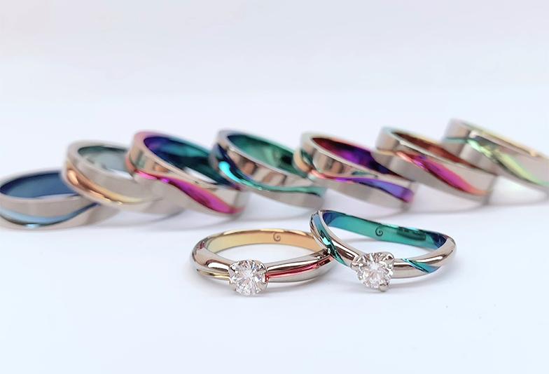 【静岡市】カラーの選べるSORAの婚約指輪。彼女の好きな色味は?