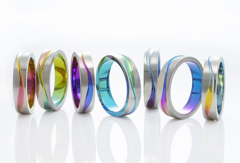 浜松 結婚指輪 カラフル